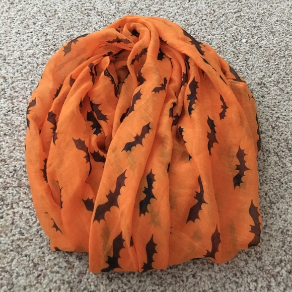 halloween bat double wrap bat scarf